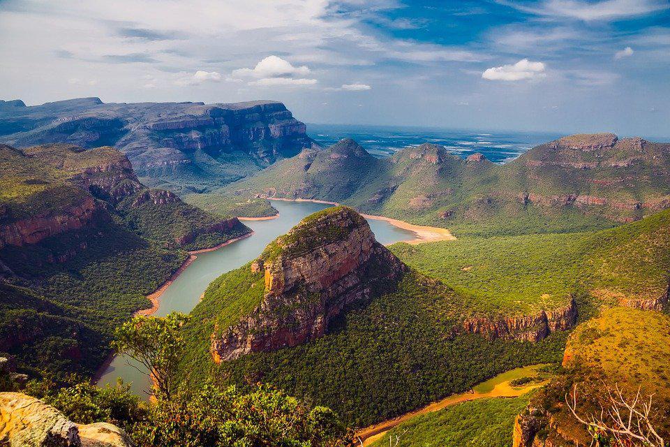 une belle vue de l'Afrique du sud